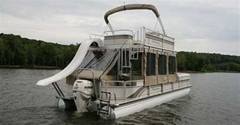Pontoon Party Boat With Slide by Double Decker Pontoon Boat With A Slide Almost Like Ours