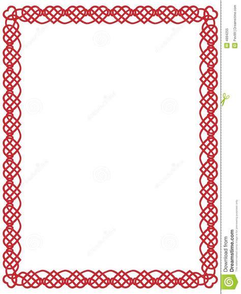 cadre de coeur avec l ornement celtique photo libre de droits image 4894255