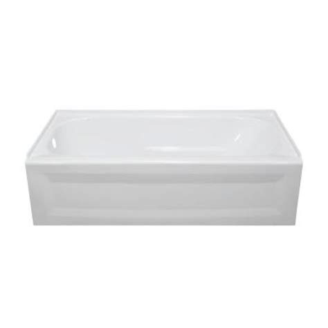 4ft bathtubs home depot lyons industries elite 4 5 ft left drain soaking tub in white