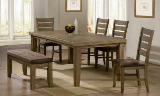 5 Dining Room Set With Bench by Dining Room Tables With Benches Homesfeed
