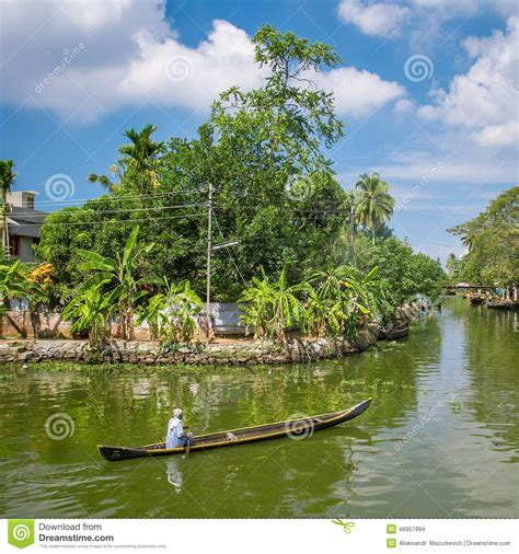 Backwaters Of Kerala Editorial Stock Image  Image 46957994