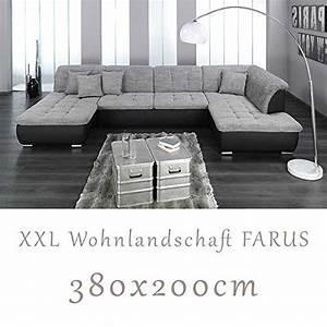 Sofa U Form Grau : wohnlandschaft couchgarnitur xxl sofa u form schwarz ~ Markanthonyermac.com Haus und Dekorationen