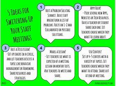 5 Ideas for Switching Up Your Staff Meetings – 4 O'Clock