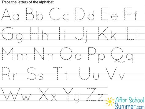 Printable Traceable Alphabet Chart For Upper And Lower Case  Google Search Harshil