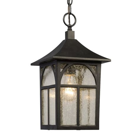 shop galaxy 15 125 in black outdoor pendant light at lowes