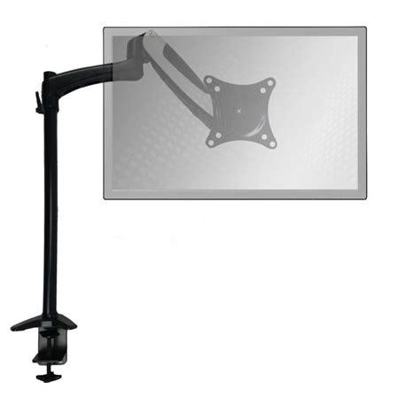 popup series extended air assist single arm monitor stand