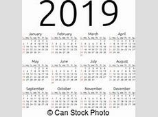 Yearly Calendar 2019 monthly calendar template