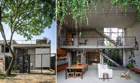 Industrial Home Style : Homes With Small Courtyards