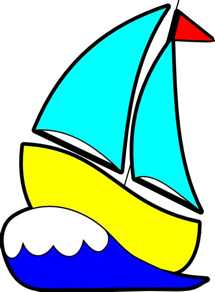 Sailboats Cartoon by Sail Boat Cartoon Clipart Best