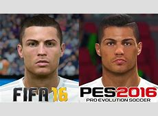 FIFA 16 vs PES 2016 REAL MADRID FACE COMPARISON 1080p