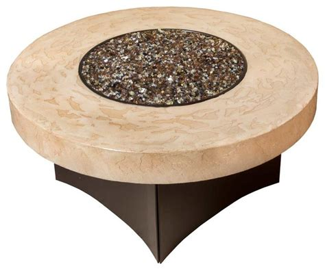 """Oriflamme Gas Fire Pit Table, Tuscan/Savanna, Tuscan, 38"""" Round   Transitional   Fire Pits   by"""
