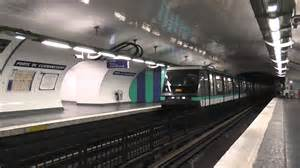 mp89 arriv 233 e 224 la station porte de clignancourt sur la ligne 4 du m 233 tro parisien