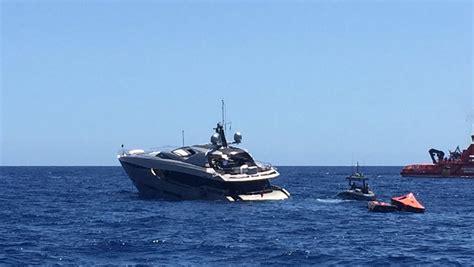 Fire Boat Ibiza by 37m Yacht Sinking Near Ibiza Yacht Harbour