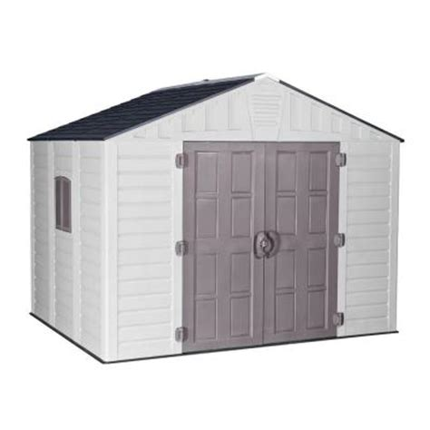 us leisure keter stronghold 10 ft x 8 ft resin storage shed 157479 the home depot