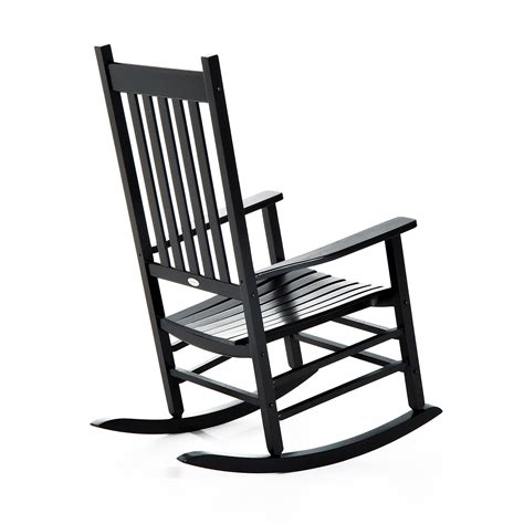 outsunny porch rocking chair outdoor patio wooden rocking chair black clearance