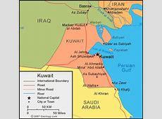 Kuwait Map and Satellite Image