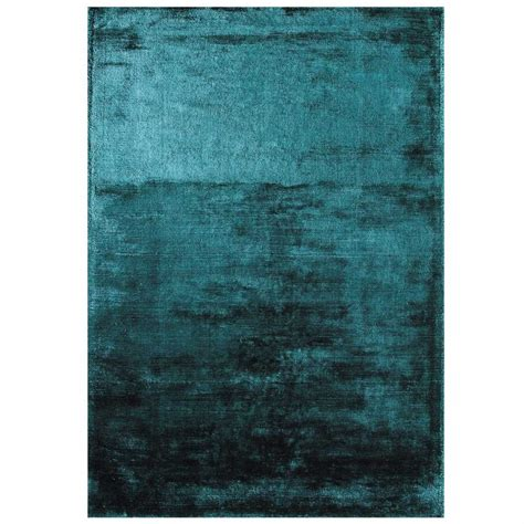 tapis haut de gamme bleu turquoise douceur teal par joseph lebon
