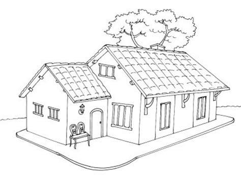 coloriage maison 5 tipos de vivienda 2
