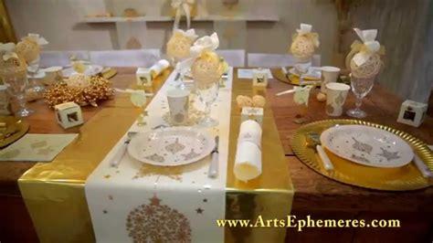 d 233 coration de table de noel or arts eph 233 m 232 res