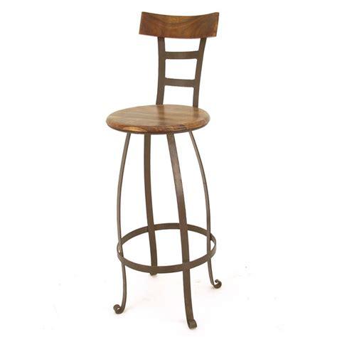 tabouret de bar pivotant meuble en fer forg 233 et palissandre