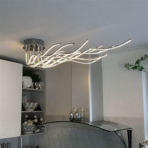 Wohnzimmer Deckenleuchte Modern : wofi benett led deckenleuchte 2800 lumen 150 cm chrom deckenlampe kaufen bei licht ~ Markanthonyermac.com Haus und Dekorationen