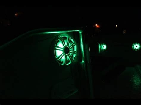 Boat Speakers Without by Kicker Marine Coaxial Speakers With Led S Youtube