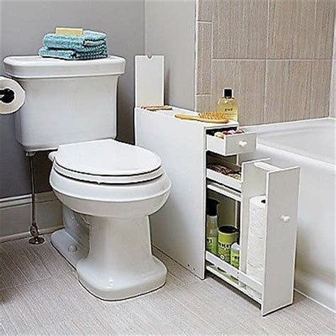 white bathroom floor cabinet for compact slim narrow spaces organize