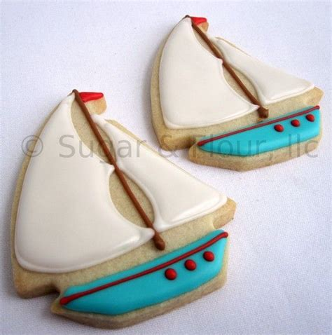 Toy Boat Party Favors by Toy Sailboat Sugar Cookie Party Favors 1 Dozen Sugar