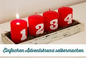 Adventskranz Rot Selber Machen : last minute adventskranz selber machen frau fadenschein ~ Markanthonyermac.com Haus und Dekorationen