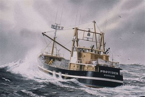 Fishing Boat Art by Quot Provider Quot Watercolor In Fishing Boat Paintings Art