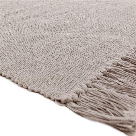 petit tapis pas cher en coton gris 50x80cm monbeautapis
