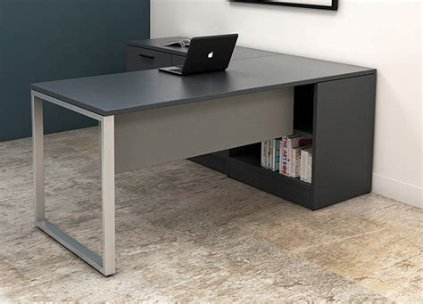 Black Office Desk  Custom Office Furniture Desks  Desk