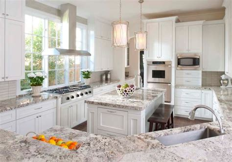 stunning white textured granite countertop for classic