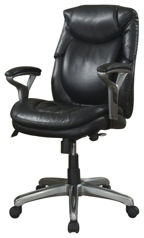 serta by true innovations serta air office chair in black bonded leather office chairs houzz