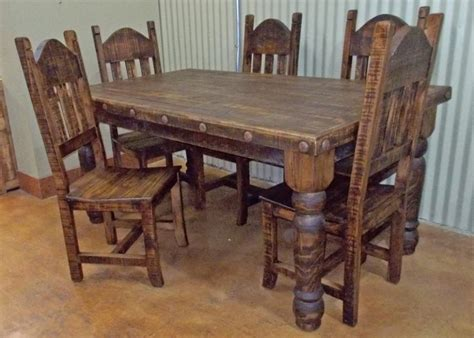 Rustic Dining Table And Chairs-thetastingroomnyc.com