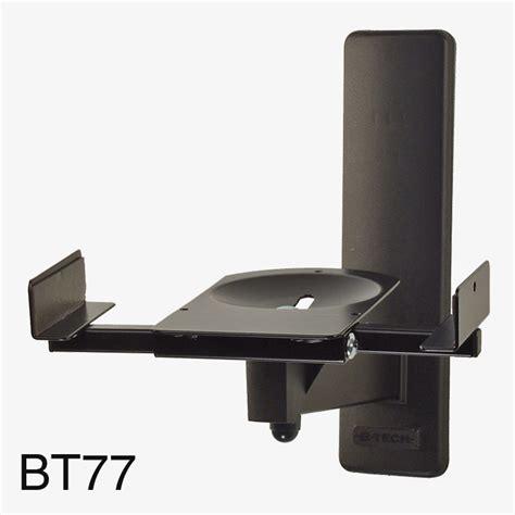 b tech bt77 ultragrip pro support mural pour enceinte 25kg max inclinable pivotable noir paire