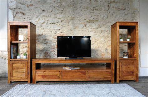 meuble t 233 l 233 bois exotique acacia 3 tiroirs guntur 3511