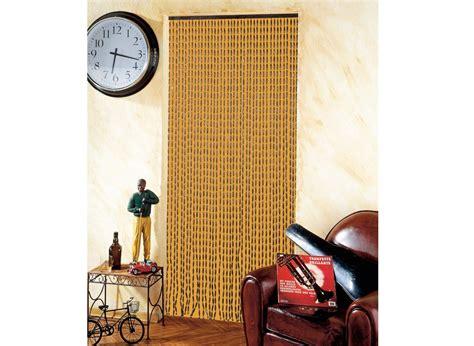 rideau de porte moustiquaire en perles de bois 90 x 200 cm jardideco