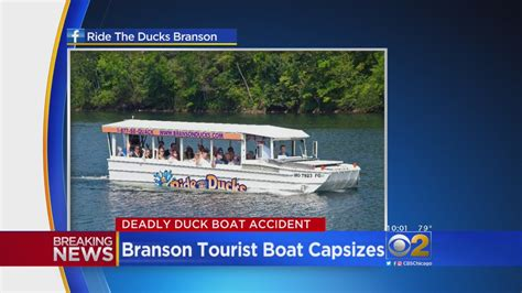 Duck Boat Capsized Video by Death Toll Now 17 In Missouri Duck Boat Accident 171 Cbs Chicago