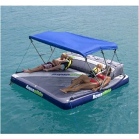 Pull Behind Boat Floats by Aquaglide Airport Raft Boat Tow Aquatop Canopy