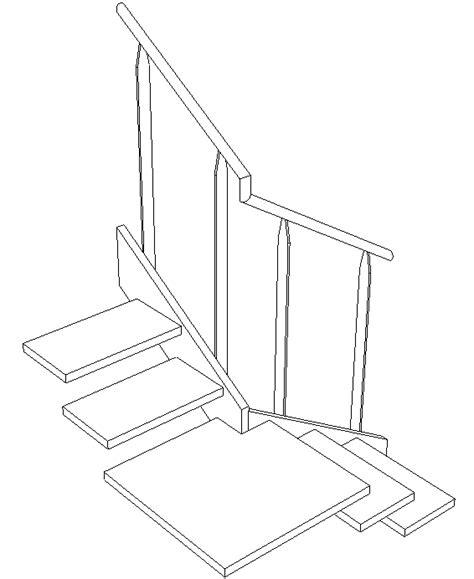 escalier quart tournant avec palier intermediaire maison design lockay