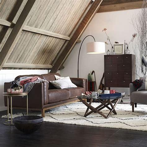 overarching linen shade floor l antique bronze west elm