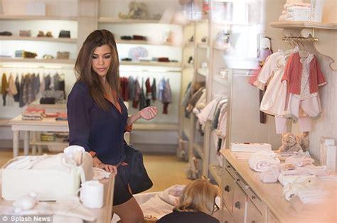 Kourtney Kardashian Shops At Luxury Children's Store