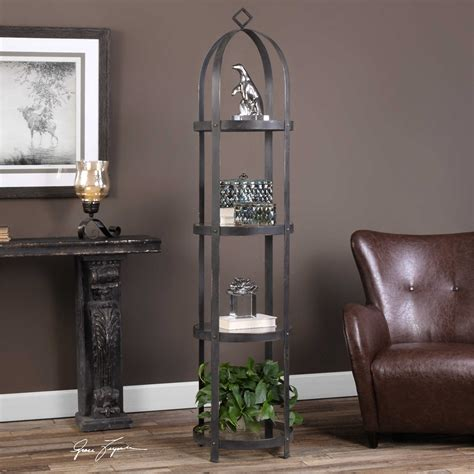 Birdcage Style Etagere W Glass Shelves  Reflections Of