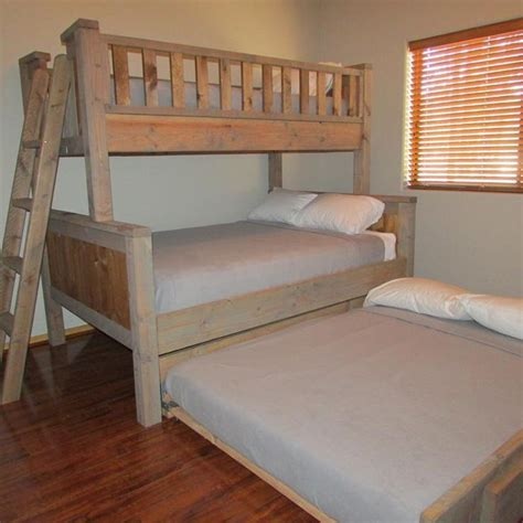 bed size bunk beds with trundle mag2vow