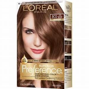 L'Oreal Warmer 5CG Iced Golden Brown Hair Color - Beauty ...