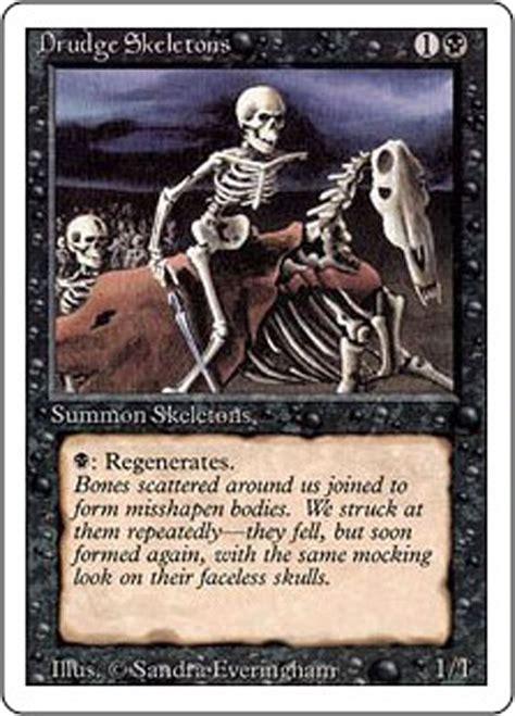 mtg magic the gathering revised edition 1994 drudge skeletons ebay