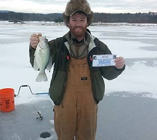 Jordan Allison Pa Fish And Boat by Jordan Allison With His White Crappie Pennsylvania