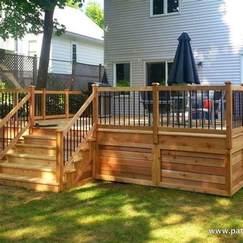 patio en bois terrasse en bois montr 233 al patios et cl 244 tures beaulieu