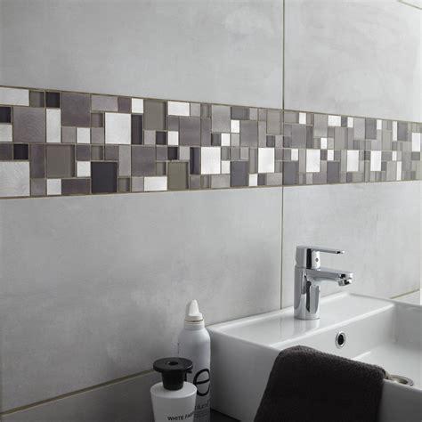 carrelage mural denver premium en fa 239 ence gris clair 30 x 60 cm leroy merlin